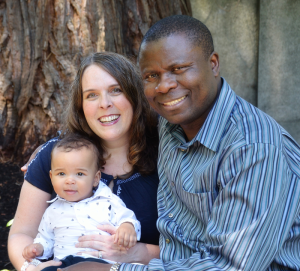 Ron Wamala with wife Beth and son Josiah